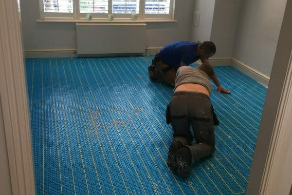 bathroom tiling underfloor heating